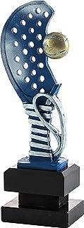 pallart 7445 – 3 Trofee Sport met design P Padel Cforwardslashcorrea racket en bal 24 cm, blauw, eenheidsmaat