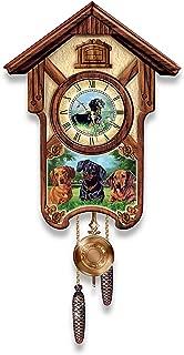 The Bradford Exchange Linda Picken Delightful Dachshunds Cuckoo Clock