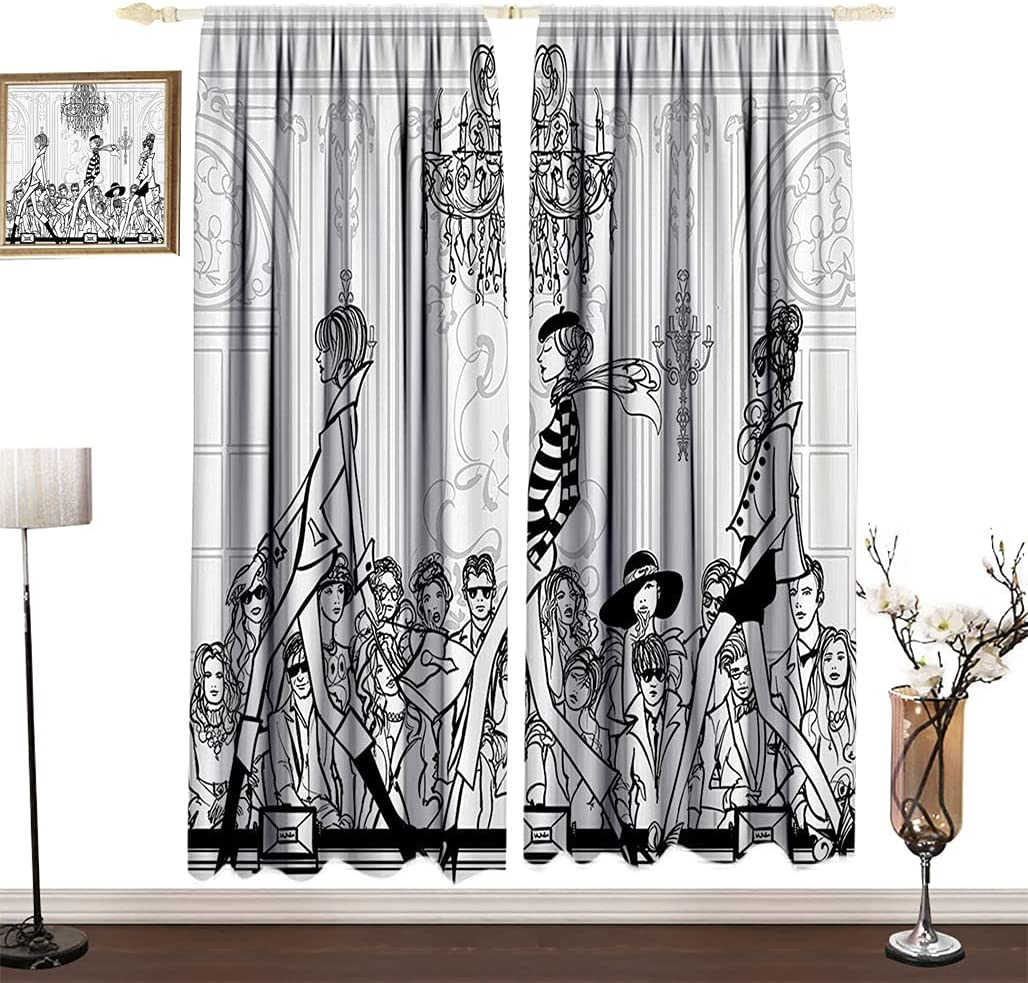 Girly Decor Thermal Insulated Curtains Fashion with Show Catwal Classic specialty shop