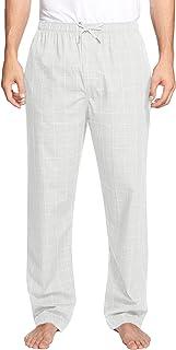 COOFANDY Mens Lounge Pajama Pants Loose Fit Sleep Pants Drawstring Plaid Pj Bottoms