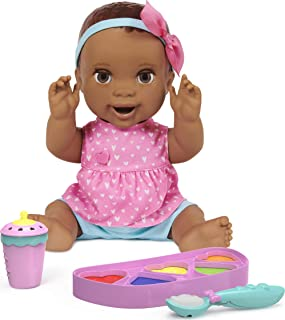 Mealtime Magic Maya, Interactive Feeding Baby Doll, Recognizes Over 50 Foods with Lifelike Reactions and Over 70 Sounds