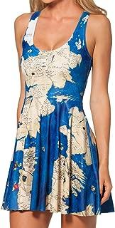 Women's Westeros Sleeveless Pleated Skater Dress M Blue