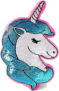 Justice Multi Flip Sequin Unicorn Pillow