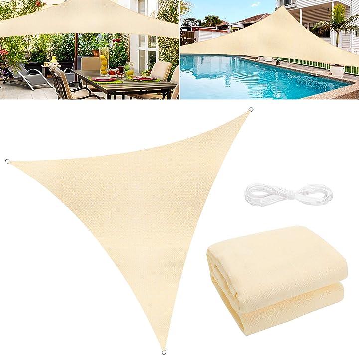 Tenda a vela parasole, tenda a vela giardino wokkol vela ombreggiante B08KSTRZ3F