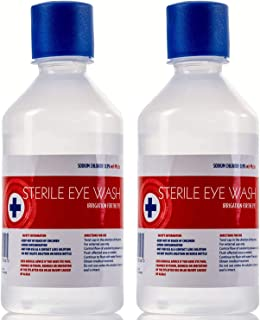 Saline Eye Wash Solution - 2 x 500ml Bottles