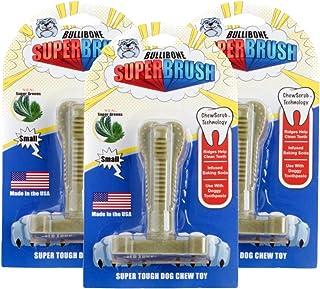 Bullibone SuperBrush: Dog Teeth Cleaning Brushing Toothbrush Stick - Long Lasting Nylon Super Greens Chew Toy for Oral Car...
