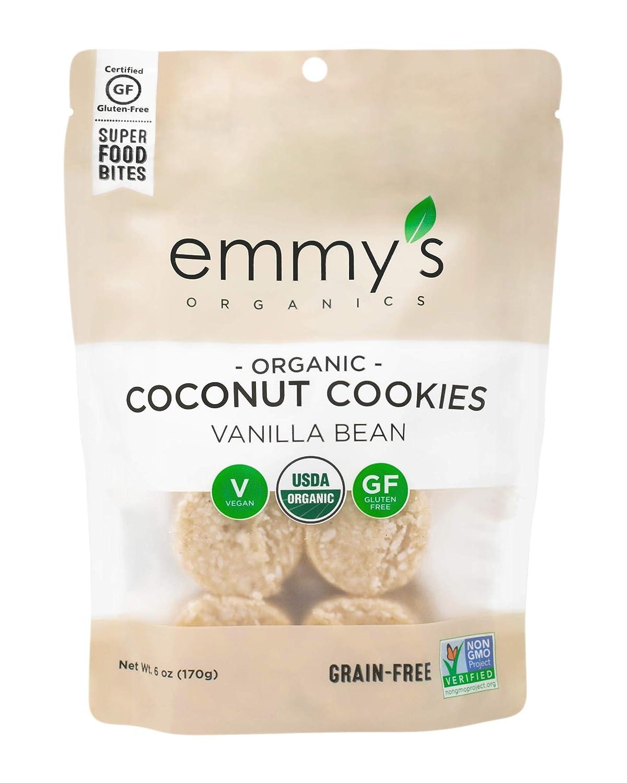 Emmy's Organics Coconut Cookies Vanilla Bean 低価格 プレゼント Pack 6 of oz 8