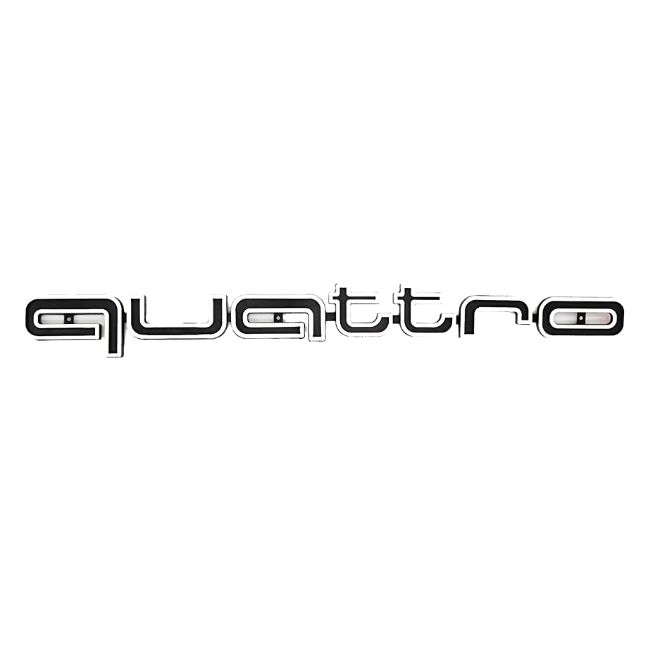 JetStyle Quattro Emblem RS Style Badge Grill For Audi Front Logo Decal