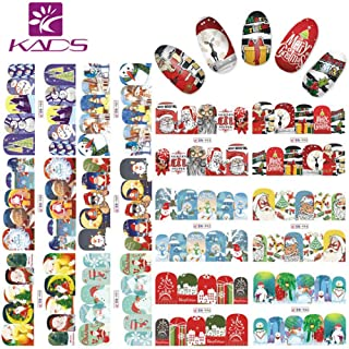KADS 1Pc Christmas Nail Art Sticker Set Water Stickers For Nails Water Transfer Decal Beauty For Girls Women and Kids Decoration Nail Tools (Style 1)