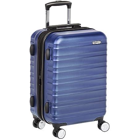 Amazon Basics Valise rigide à roulettes pivotantes de qualité supérieure avec serrure TSA intégrée, Taille cabine 55 cm, Bleu