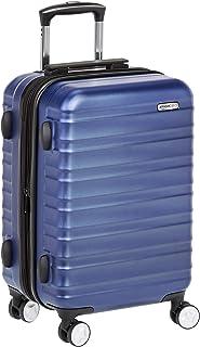 Maleta de mano rígida de alta calidad, con ruedas y cerradura TSA incorporada, 55 cm, Azul