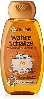 Garnier Tesori Veri Shampoo, Cura Intensiva per i capelli fino alle punte, donano più lucentezza e morbidezza (con olio di...