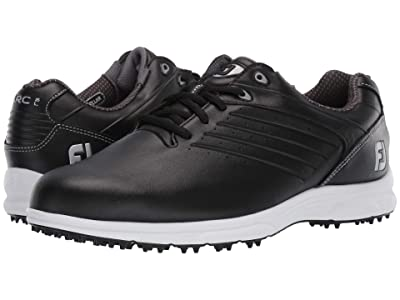FootJoy ARC SL Spikeless Plain Toe w/ Microperfs (All Over Black) Men