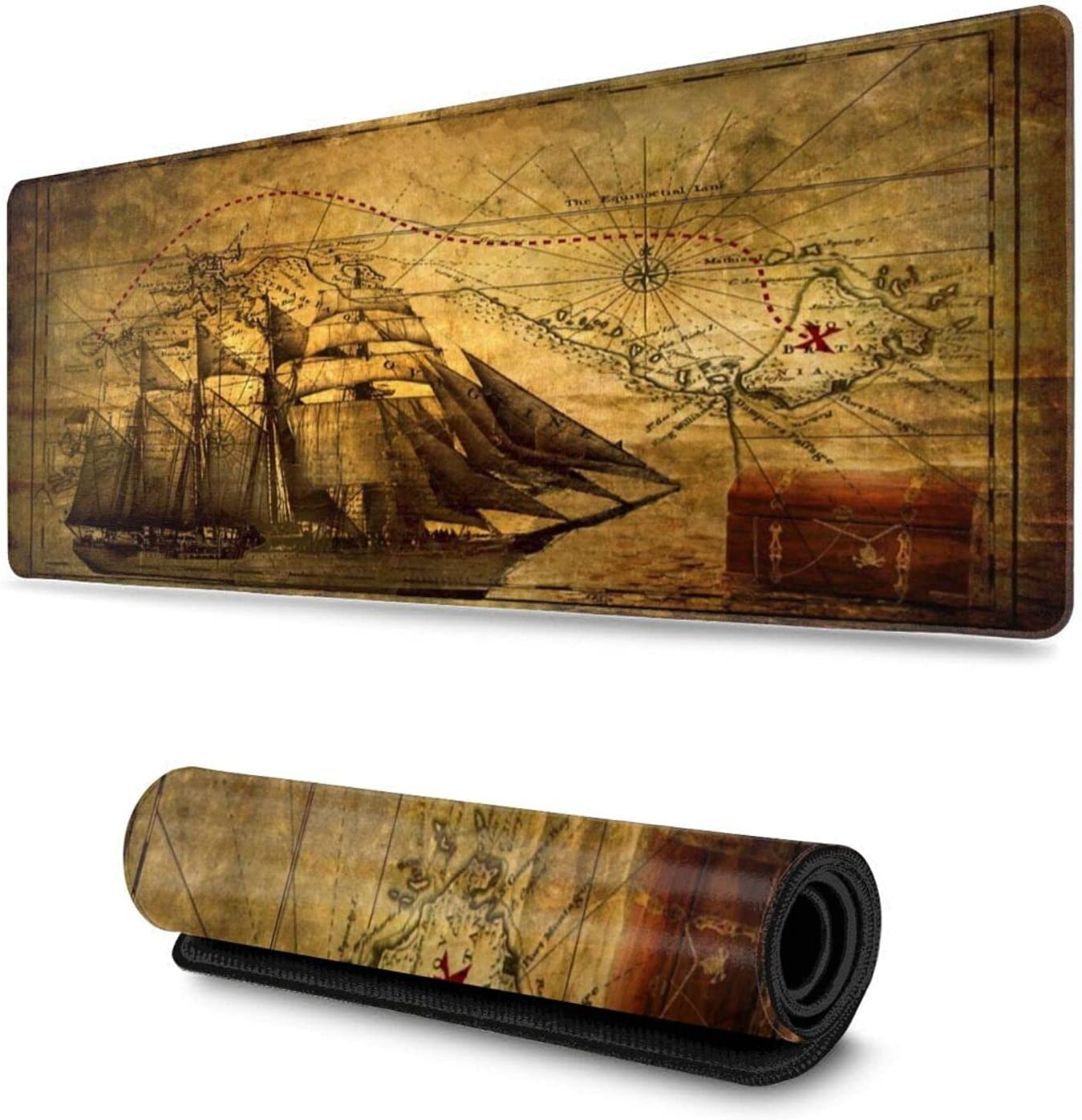 Bombing new work Nautical Vintage Sailing Pirate Long Gaming Easy-to-use Pad Computer Mouse 3