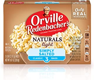 Orville Redenbacher's Naturals Simply Salted Popcorn, Classic Bag, 3-Count