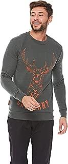 French Kick Sweatshirts For Men, L, Green