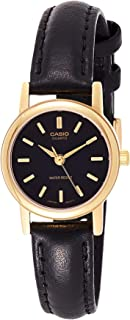 Casio Women's Black Dial Leather Band Watch - LTP-1095Q-1A