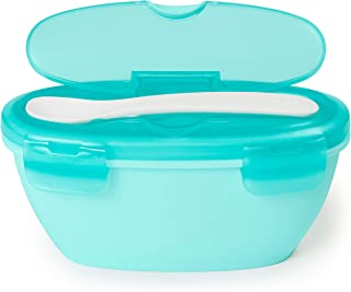 Skip Hop Easy-Serve Travel Bowl and Spoon, Soft Teal, 2 Count