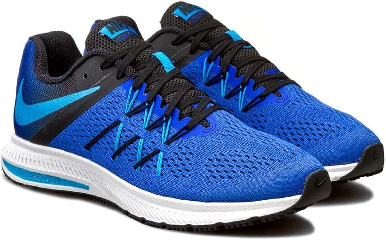 Nike Zoom Winflo 3, Zapatillas de Running para hombre, Azul (Racer Blue / Blue Glow-Black-White), 39 EU