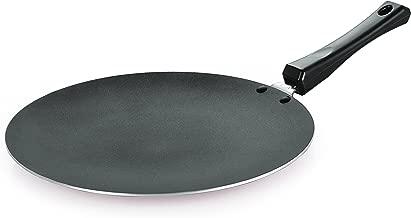 NIRLON Concave Roti Tawa Classic Range Non-Stick Cookware Tawa Pan, Red & Black - Aluminium Cookware Utensils