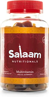 Salaam Nutritionals Halal Adult Gummy Multivitamins – 11 Essential Vitamins and Minerals with Antioxidants – Kosher, Veget...