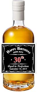 Personalized Liquor Themed Self Adhesive Birthday Labels (Set of 24)(LWhiskBD)