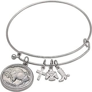 American Coin Treasures Western Charm Silver Tone Dateless Buffalo Nickel Reverse Coin Bracelet