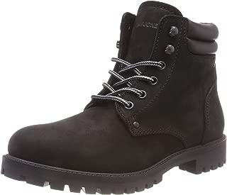 Mens Nubuck Stoke Boots Casual Shoes Black Mono