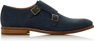 Dune Mens STOWMARKET Double Buckle Monk Shoes Flat Heel