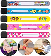 Yillsen Child Safety ID Wristband,Waterproof Kids Safety Bracelet,Anti Lost ID Wristband,Reusable SOS Bracelet for Boys and Girls