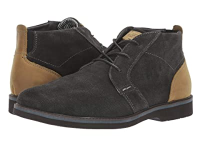 Nunn Bush Barklay Plain Toe Chukka (Grey Emboss) Men