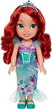 Disney Princess- Princesa, muñeca Ariel Detalle. Fíjate en su Pelo, Vestido, Corona, Zapatitos, Color Multicolor con Preciosos Estampados, 35 cm (78846)