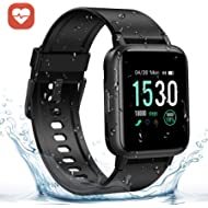 """GRM Fitness Tracker with Heart Rate Monitor, Activity Tracker Watch Full 1.3"""" Color Screen Smart..."""