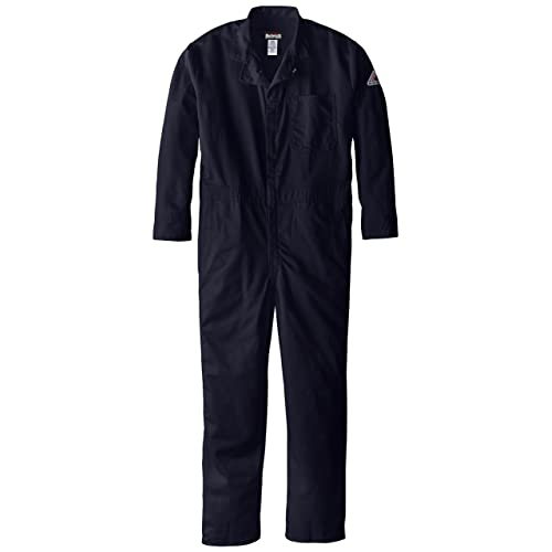 8e8f6f4fe2ab Bulwark Men s Flame Resistant 9 Oz Twill Cotton Classic Coverall with  Hemmed Sleeves