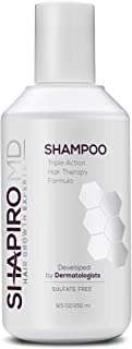 Hair Loss Shampoo | All-Natural DHT Blockers for Thinning Hair Developed by Dermatologists | Experience Healthier, Fuller and Thicker Looking Hair - Shapiro MD | 1-Month Hair Shampoo Supply