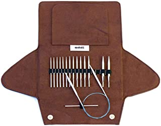 addi Click Lace Short Tip Interchangeable Circular Knitting Needle System with Skacel Exclusive Blue Cords