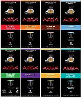Café Agga Coffee - Variety Pack 80 Nespresso OriginalLine Compatible Capsules
