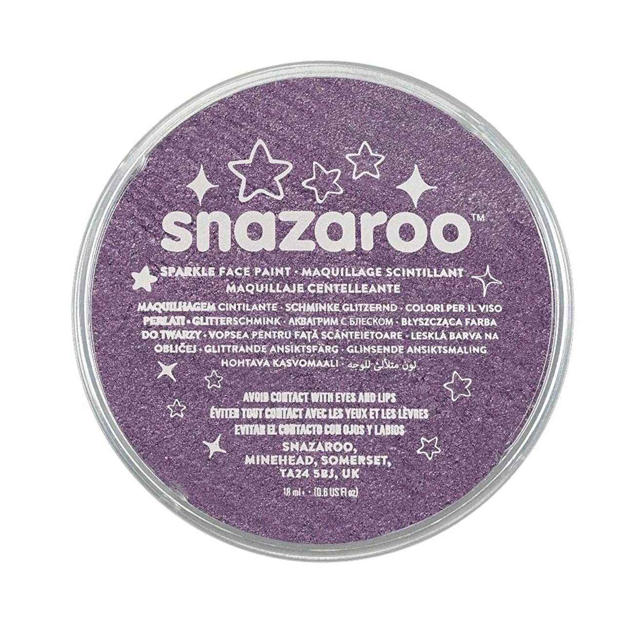 Snazaroo Sparkle Face Paint, 18ml, Sparkle Lilac