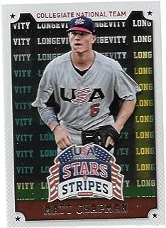 2015 Panini Stars and Stripes Longevity #72 Matt Chapman USA Baseball Collegiate National Team Future Oakland Athletics Star