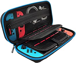 Carry Case Compatible With Nintendo Switch,20 Game Cartridges Protective Hard Shell Travel Carrying Case Pouch for Nintendo Switch Console & Accessories (26013550mm/10.235.311.96'', Black)