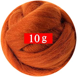 0.35oz Needle Felting Wool Roving Merino 70S Grade Eco-Friendly Super Soft Natural Wool Fiber for Needle Felting Kit 40 Color Options (19)