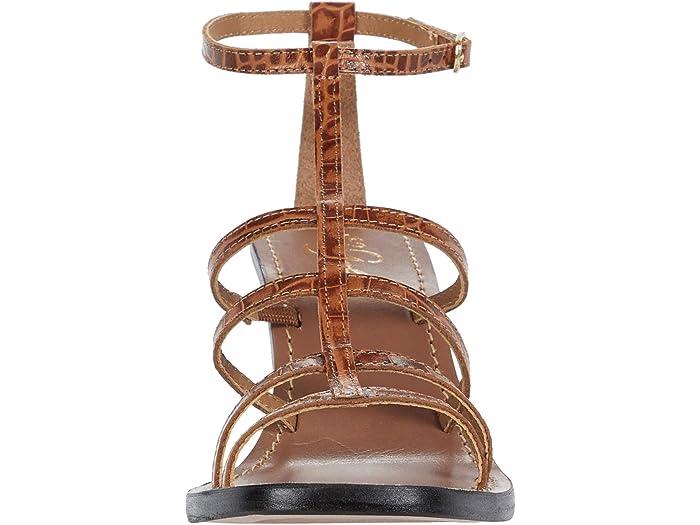 42 Gold Emilla Cognac Leher Heels