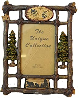 Pine Ridge Black Bear Photo Frame Antler Design Family Picture Photo Collage Frame for Wall Hanging Home Decor
