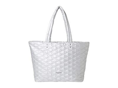 Baggallini Quilted Tote (Pewter Metallic) Handbags