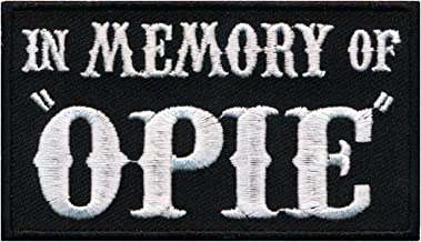 in memory of embroidered patches