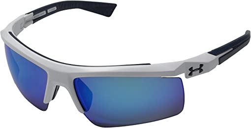 Shiny White/Navy Frame/Gray/Blue Multiflection Lens