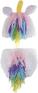 Leo Skye Unicorn Costume Crochet Newborn Photography Props 0-3 Months
