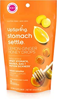 UpSpring Stomach Settle Drops for Nausea, Gas, Bloating, Morning Sickness and Motion Sickness Relief, 28 Count Individuall...