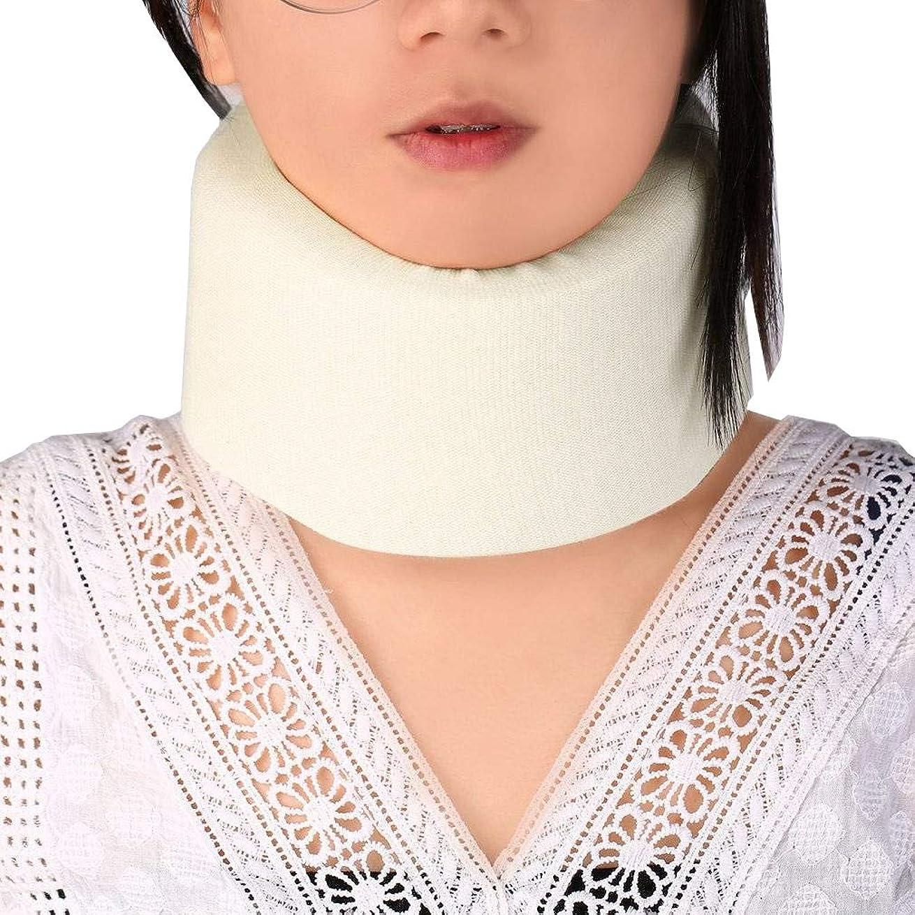 グラス整然とした有毒Oral Dentistry 首 サポーター ソフト 頸椎 首こり ソフト頸椎カラー 肩の痛みの軽減 着脱 簡単 男女兼用 ホワイト