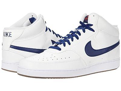 Nike Court Vision Mid (Summit White/Blue Void/Firewood Orange) Men